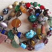 Украшения handmade. Livemaster - original item 09 VIRGO charm Bracelet 3 pieces of natural stones Zodiac Sign. Handmade.