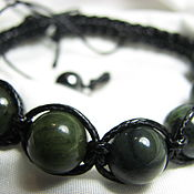 Украшения handmade. Livemaster - original item Shamballa bracelet with jade Baikal