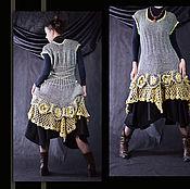 """Одежда ручной работы. Ярмарка Мастеров - ручная работа Платье-оверсайз """"Кувшинки"""" 50% СКИДКА. Handmade."""