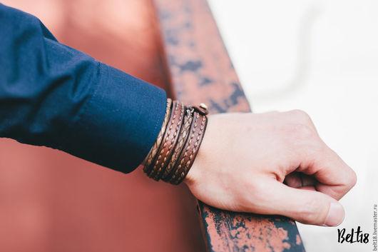 Браслеты ручной работы. Ярмарка Мастеров - ручная работа. Купить Кожаный браслет. Handmade. Браслет, браслеты ручной работы