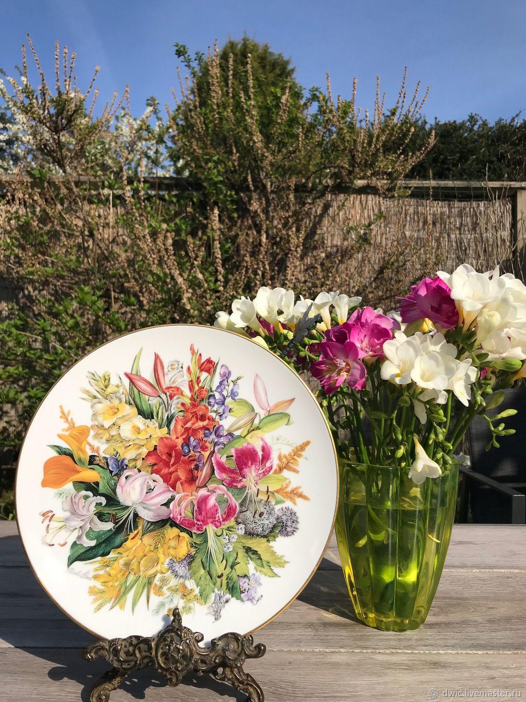 Decorative plate, 'Bouquet', hand-painted, Germany, Vintage interior, Arnhem,  Фото №1