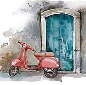 Картины и панно ручной работы. Ярмарка Мастеров - ручная работа прогулки по Италии. Handmade.