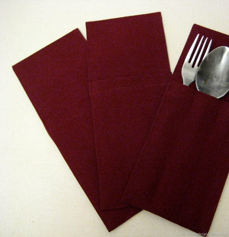 Кухня ручной работы. Ярмарка Мастеров - ручная работа. Купить Куверты (конверты или чехлы для столовых приборов). Handmade. Кармашки