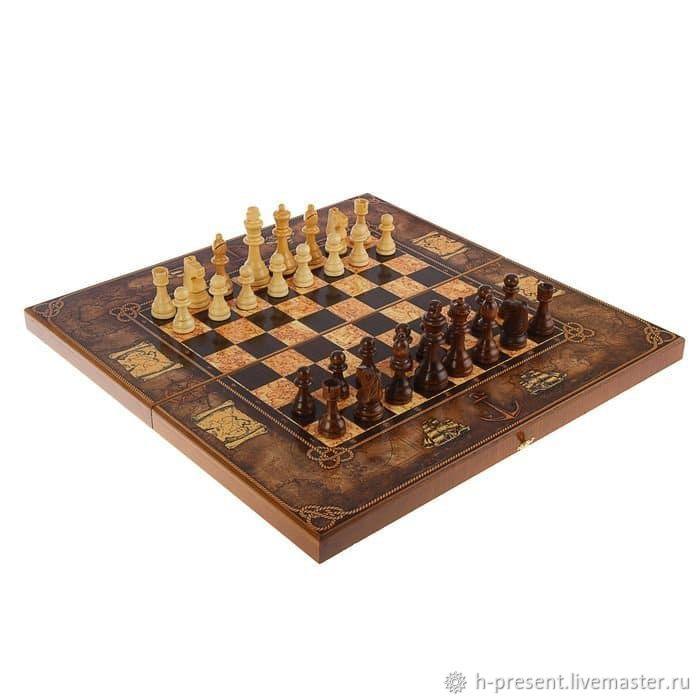 Chess 'Sea map', 50, Chess, St. Petersburg,  Фото №1