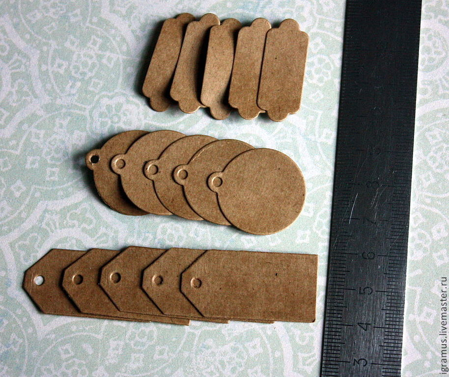 New Year 2019 handmade. Livemaster - handmade. Buy The set of tags (tags) from Kraft cardboard.Brown