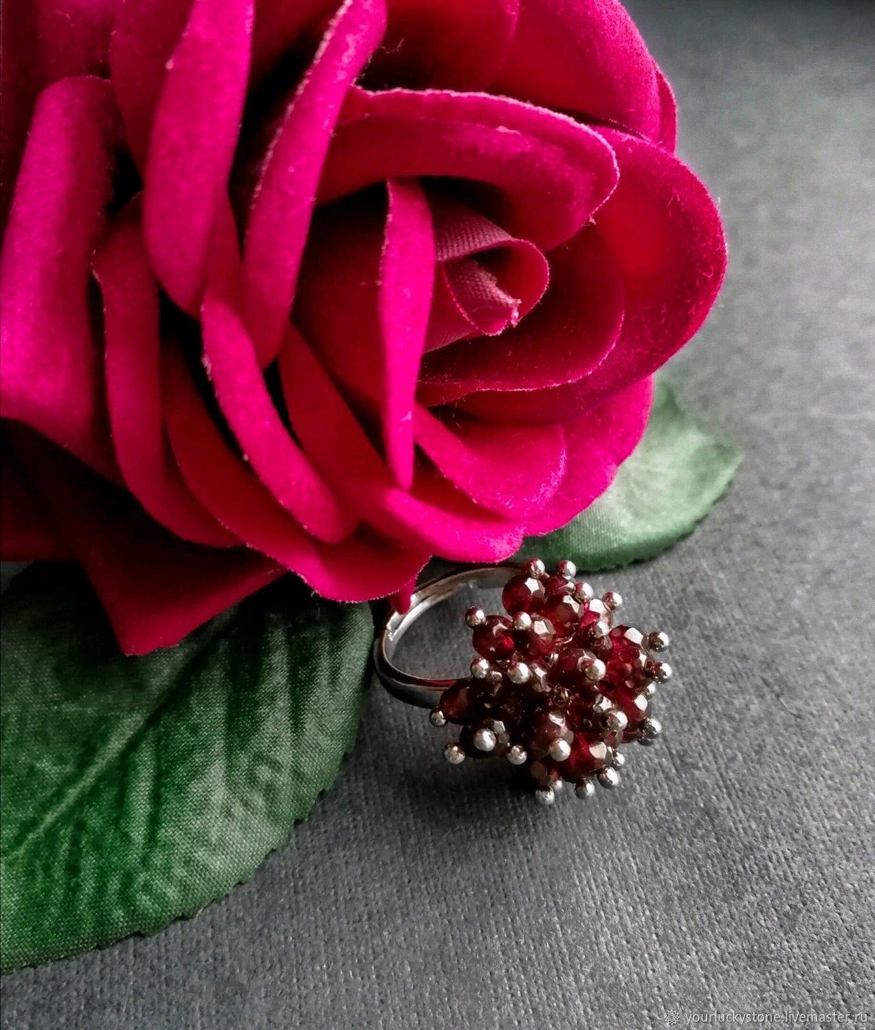 Natural garnet ring, Rings, Tolyatti,  Фото №1