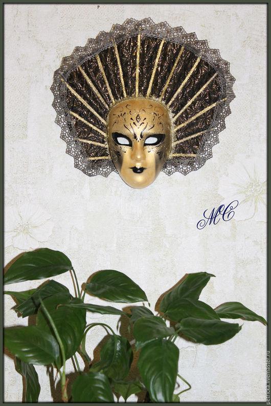 Интерьерные  маски ручной работы. Ярмарка Мастеров - ручная работа. Купить Sunny  (маска-декор). Handmade. Золотой, интерьерные маски