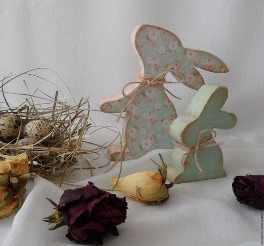 Подарки на Пасху ручной работы. Ярмарка Мастеров - ручная работа. Купить Пасхальные кролики. Handmade. Мятный, пасхальный декор