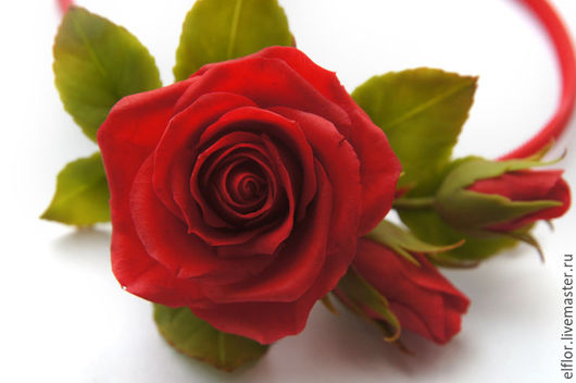 Ободки ручной работы. Ярмарка мастеров - ручная работа. Купить ободок с цветами из полимерной глины. Ободок с розами ручной работы.