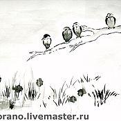 Картины и панно ручной работы. Ярмарка Мастеров - ручная работа Птицы. Handmade.