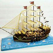 Цветы и флористика ручной работы. Ярмарка Мастеров - ручная работа Большой Корабль из конфет. Handmade.