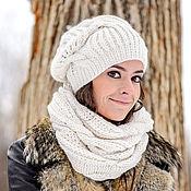 Аксессуары ручной работы. Ярмарка Мастеров - ручная работа «Боярыня». Вязаная шапка. Handmade.