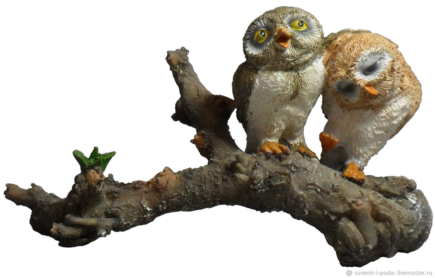 The owl and the owl (first love), Figurines, Feodosia,  Фото №1