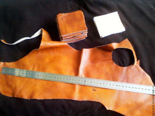 Другие виды рукоделия ручной работы. Ярмарка Мастеров - ручная работа. Купить Кусочки кожи 8 х 8 см. Handmade.