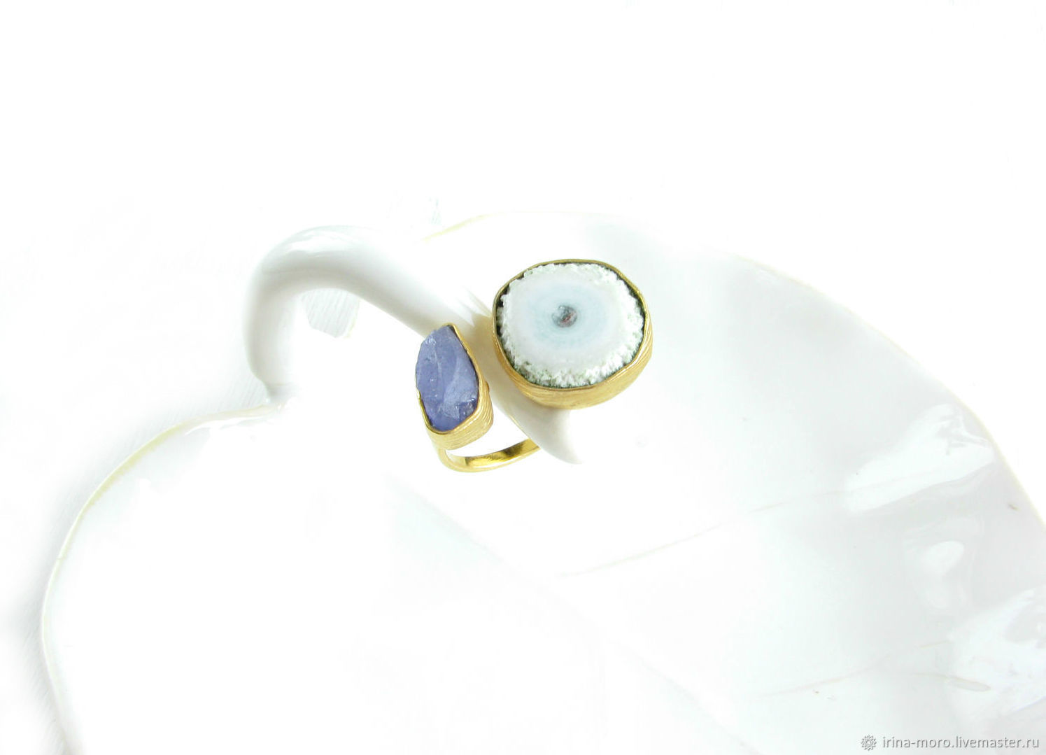 Ring gift 'Extravaganza' ring with quartz, ring with tanzanite, Rings, Moscow,  Фото №1