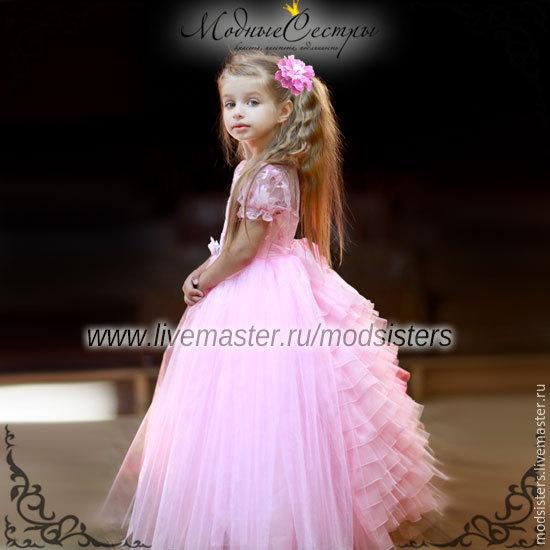 Baby dress 'Ball gown' pink Art.-103, Childrens Dress, Nizhny Novgorod,  Фото №1