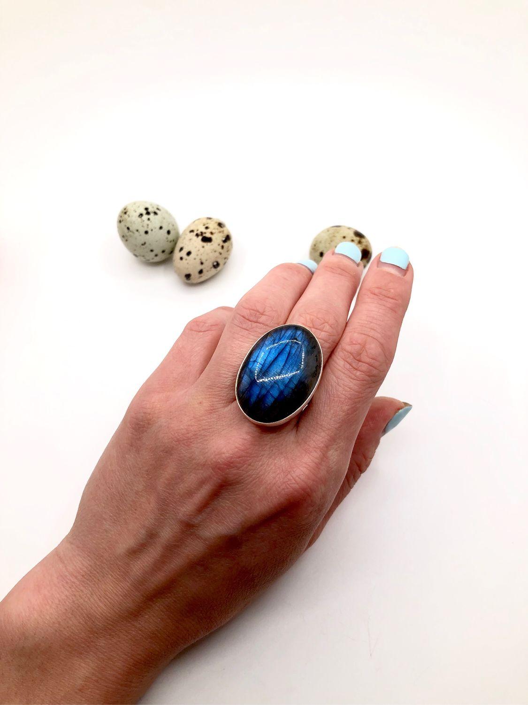 Ring with Labrador (labradorite), Rings, Feodosia,  Фото №1