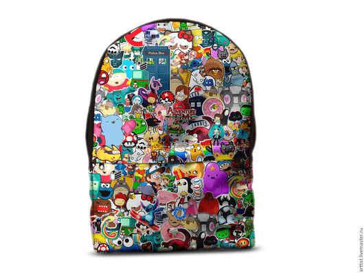Рюкзаки ручной работы. Ярмарка Мастеров - ручная работа. Купить Яркий рюкзак. Handmade. Разноцветный, рюкзак городской, школьный рюкзак
