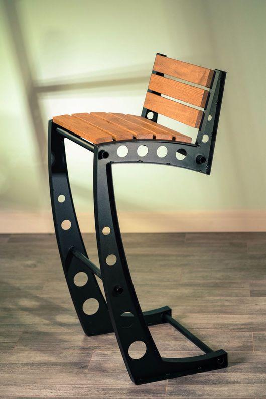 Мебель ручной работы. Ярмарка Мастеров - ручная работа. Купить Барный стул стиль лофт, индастриал.. Handmade. Барный стул
