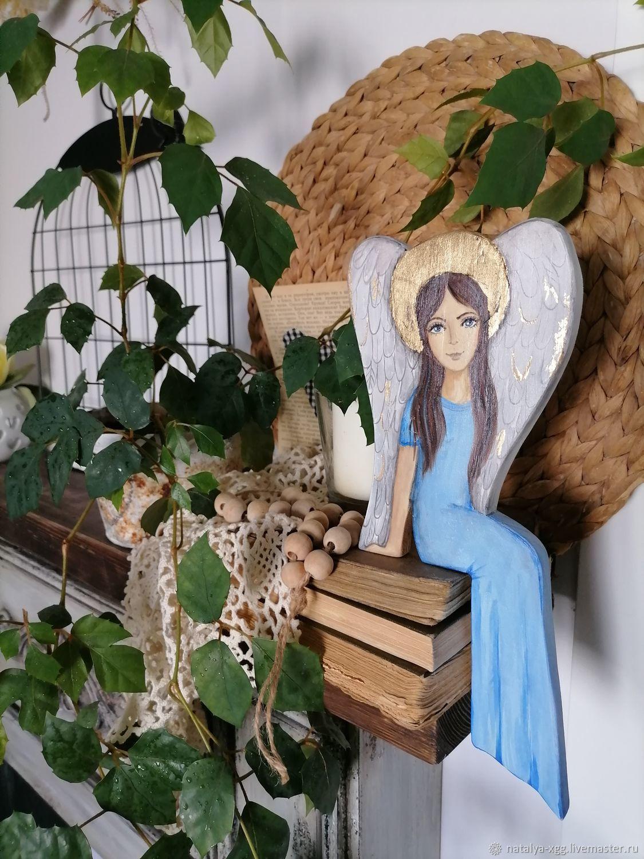 Ангел деревянный расписной, Скульптуры, Барнаул,  Фото №1