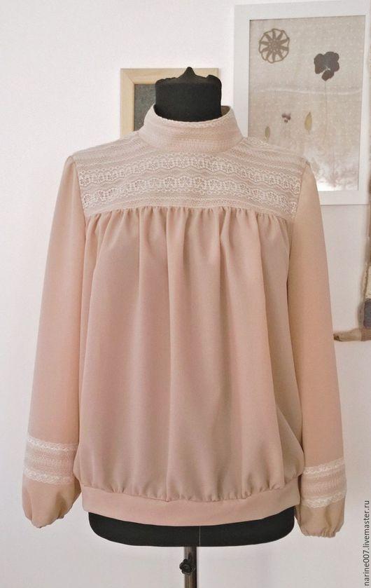Блузки ручной работы. Ярмарка Мастеров - ручная работа. Купить Блуза в стиле 20-х. Handmade. Бежевый, блуза легкая