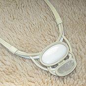 Necklace handmade. Livemaster - original item Decoration capolongo and quartz. Handmade.