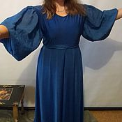 Одежда ручной работы. Ярмарка Мастеров - ручная работа Платье василек. Handmade.