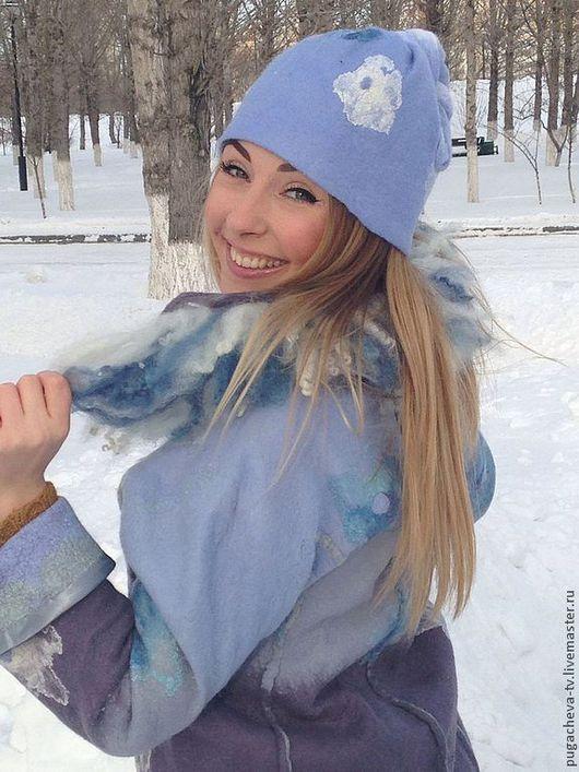 """Верхняя одежда ручной работы. Ярмарка Мастеров - ручная работа. Купить Валяный комплект """" Снегурочка"""". Handmade. Голубой"""