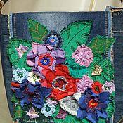 """Классическая сумка ручной работы. Ярмарка Мастеров - ручная работа Джинсовая сумка """" Захотелось немного весны"""". Handmade."""