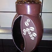 """Для дома и интерьера ручной работы. Ярмарка Мастеров - ручная работа баночка под кофе """". Handmade."""
