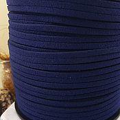 Материалы для творчества handmade. Livemaster - original item 1 m suede cord (isc.) 3 mm dark blue (5347). Handmade.