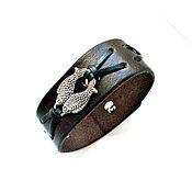 Украшения handmade. Livemaster - original item Men`s leather fish bracelet. Handmade.