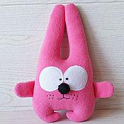 Мягкие игрушки ручной работы. Ярмарка Мастеров - ручная работа Зайка текстильная игрушка. Handmade.