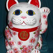 Манэки-нэко. Японский кот. Интерьерная игрушка.