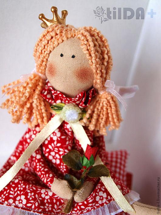 Куклы Тильды ручной работы. Ярмарка Мастеров - ручная работа. Купить Малышка в красном (маленькая принцесса тильда). Handmade. Тильда
