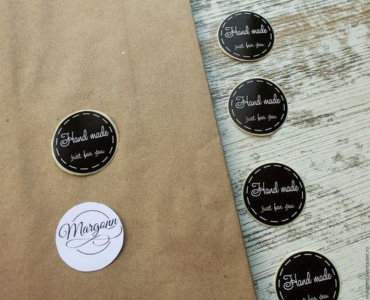 Упаковка ручной работы. Ярмарка Мастеров - ручная работа. Купить Стикер d3001. Handmade. Наклейка, наклейка на коробку, наклейка для мыла