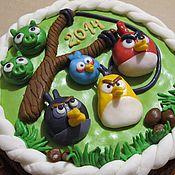 Сувениры и подарки ручной работы. Ярмарка Мастеров - ручная работа Пряник с начинкой Angry Birds. Handmade.