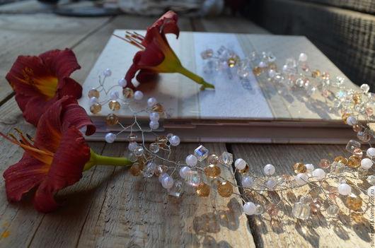 Веточка в прическу для невест и не только. Замечательно дополнит праздничный образ. Магазин sunregy018