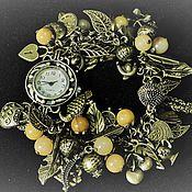 Часы наручные ручной работы. Ярмарка Мастеров - ручная работа Часы с жёлтым Нефритом. Handmade.