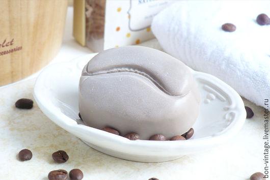 Мыло ручной работы. Ярмарка Мастеров - ручная работа. Купить Капучино - глицериновое мыло. Handmade. Коричневый, мыло кофе