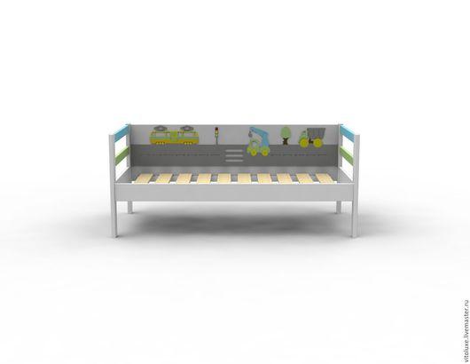 """Детская ручной работы. Ярмарка Мастеров - ручная работа. Купить Детская кровать с """"Веселая дорога"""". Handmade. Детская кровать"""