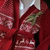 Одежда ручной работы. Ярмарка Мастеров - ручная работа Кардиган новогодний. Handmade.