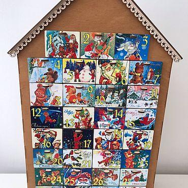 Сувениры и подарки ручной работы. Ярмарка Мастеров - ручная работа Новогодний адвент календарь для детей. Handmade.