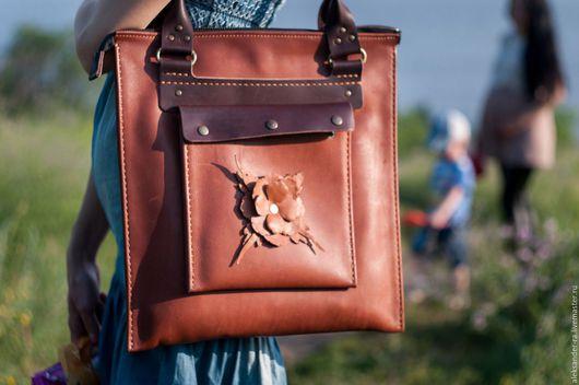 Женские сумки ручной работы. Ярмарка Мастеров - ручная работа. Купить Женская сумка из натуральной кожи J-3. Handmade.