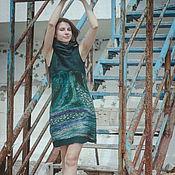 """Одежда ручной работы. Ярмарка Мастеров - ручная работа Валяное платье """"Green"""". Handmade."""