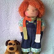 Куклы и игрушки ручной работы. Ярмарка Мастеров - ручная работа Персик, 34 см. Handmade.