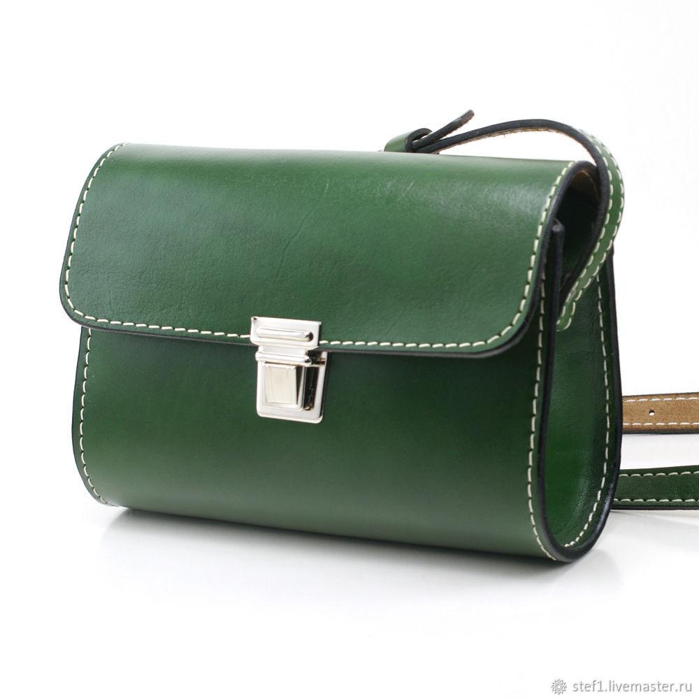 сумка зеленая кожа купить