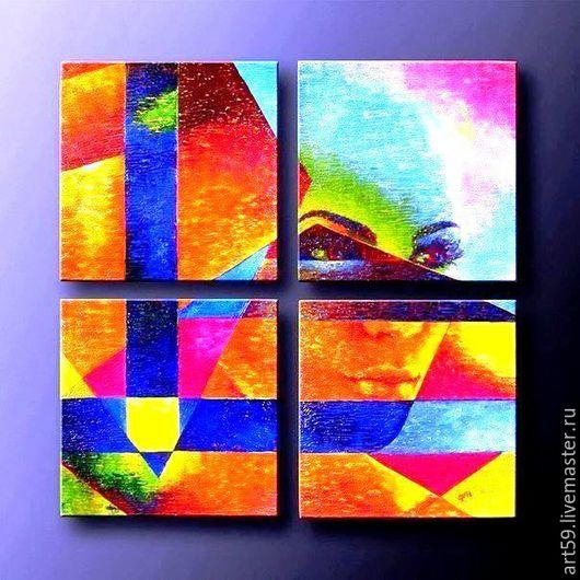 """Абстракция ручной работы. Ярмарка Мастеров - ручная работа. Купить абстракция в стиле Поп-Арт """"Видение"""". Handmade. Разноцветный, стиль"""