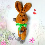 Куклы и игрушки handmade. Livemaster - original item Toy Bunny knitted plush toy Hare soft toy rabbit. Handmade.