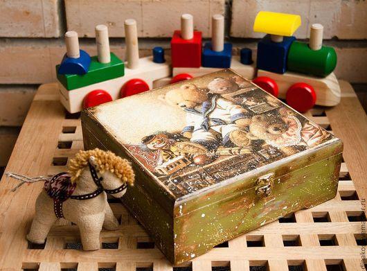 Детская ручной работы. Ярмарка Мастеров - ручная работа. Купить большая шкатулка мишкина сказака. Handmade. Шкатулка